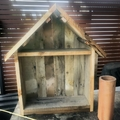 Bee Hotel for Native Australian Bees with bamboo shoot and pipe for clay.